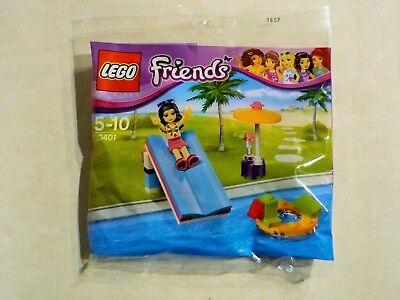 LEGO 30401 Friends - Pool mit Rutsche und Schirm inklusive Minifigur Emma - NEU ()