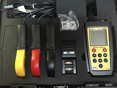 Ideal 61-805 Power Analyzer With 3 Cpr-1000 Clamps And Accessories