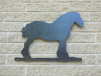 Shire Horse Silhouette in Mild Steel, for Weathervanes or Features in Gates
