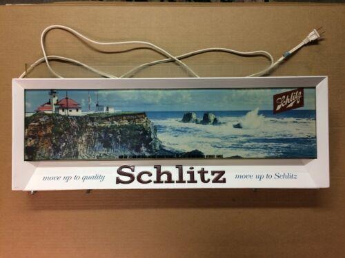 Schlitz Vintage 1958 Lighted  Beer Sign Lighthouse Move up to Schlitz