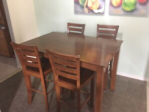 Extendable Bar Dining Table Set