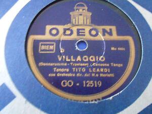 78 Giri TENORI: R. BARDI E T. LEARDI - SCRIVIMI / VILLAGGIO - ODEON GO-12519 - Italia - 78 Giri TENORI: R. BARDI E T. LEARDI - SCRIVIMI / VILLAGGIO - ODEON GO-12519 - Italia