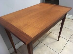 "Mid century modern Walnut side table with drawer - 28""x17""x22"""