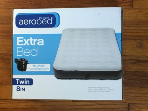 NEW AeroBed Twin Air Mattress Includes Pump & Bed Bag Inflat