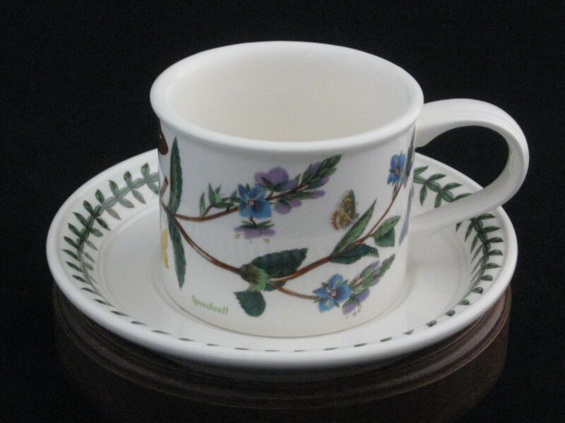 "Portmeirion Botanic Garden ""Veronica Chamaedrys"" Speedwell Tea Cup & Saucer Set"
