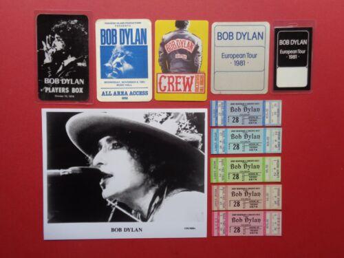 BOB DYLAN,Promo photo,5 Backstage passes,5 concert tickets,RARE old Originals,