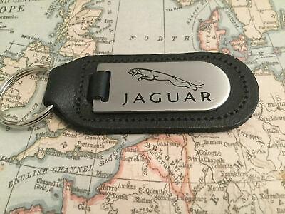 Jaguar Llavero Grabado Y Relleno en Cuero XF XJ Xk Tipo F