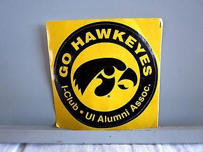 Iowa University Alumni (IOWA HAWKEYES University alumni sticker UI logo round adhesive circular)
