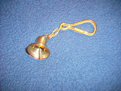 Messing Poliert Kette (Schlüsselanhänger Messing poliert Schiffsglocke, 25 mm Ø + Kette 35.839.00)