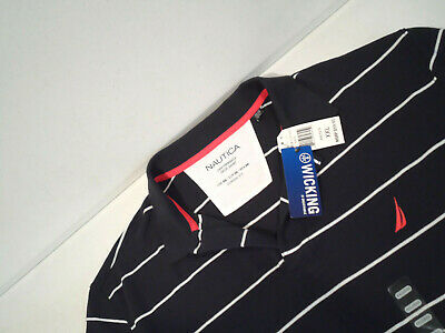 NEW Nautica Mens Performance Deck Shirt Size XXL Breathable & Moisture Wick Polo