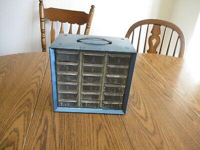 18 Drawer Akro-mils Metal Cabinet With Plastic Drawers Storage