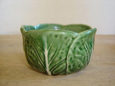 """Bordallo Pinheiro Green Cabbage Bowl - 4 1/4"""" x 2 3/8"""" high"""