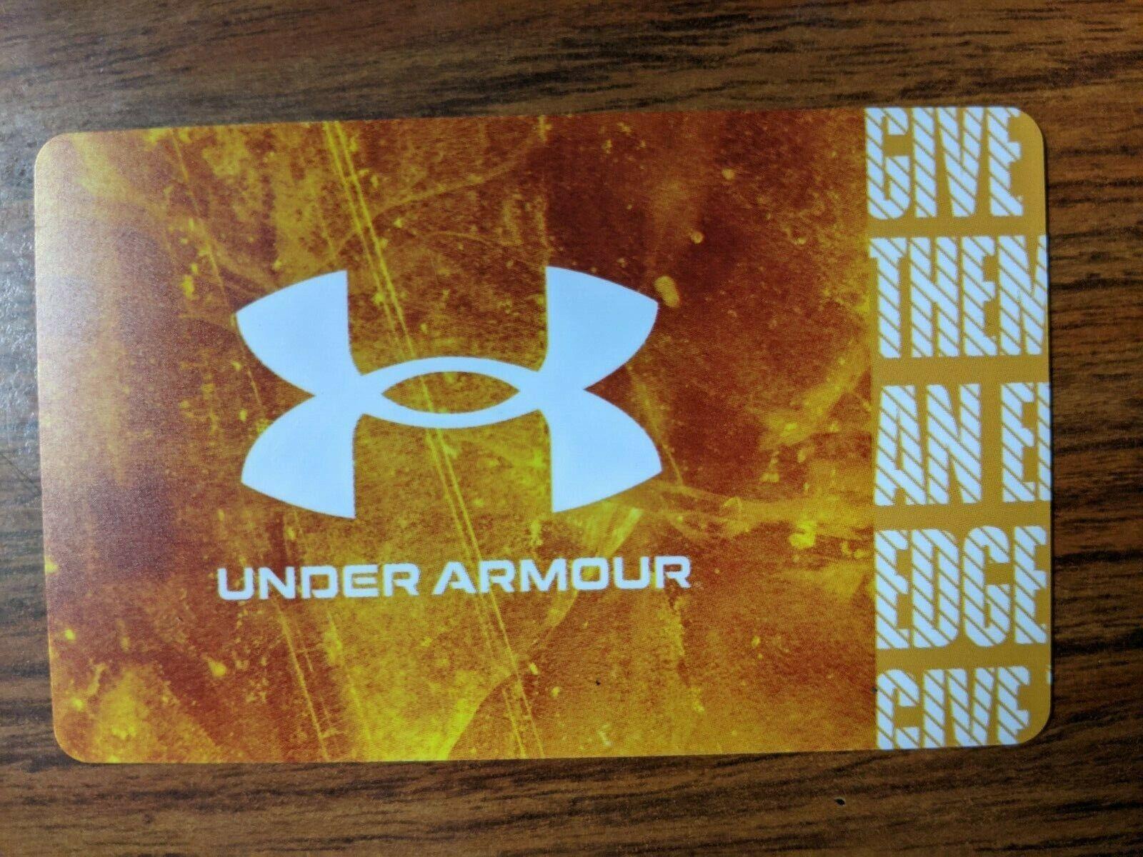 213.00 Under Armour Gift Card Merchandise Credit BALANCE 213.00 - $190.00
