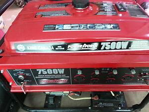 generrator  7500 watt