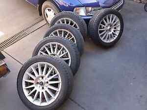 Mitsubishi Lancer 15inch  CSA mag wheels x5 Woodcroft Morphett Vale Area Preview