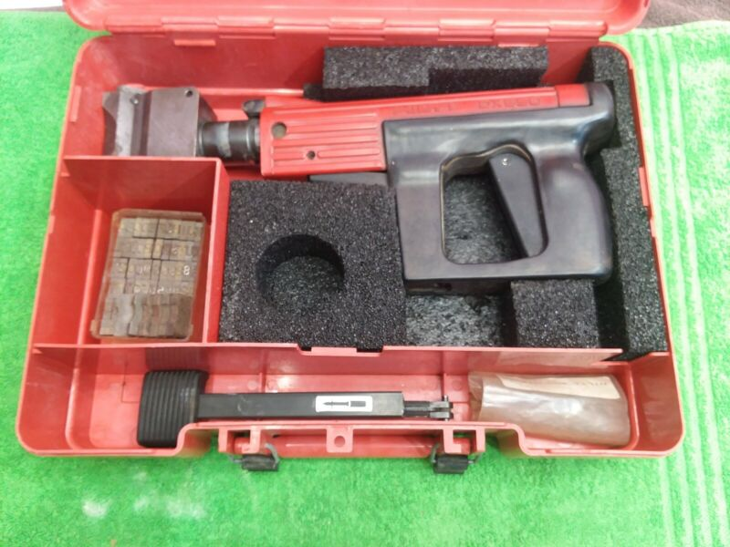 HILTI  DX650 powder actuated stamp marking tool kit with die set