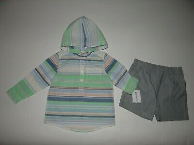 NWT, Baby boy clothes, 18 months, Carter's 2 piece hooded set