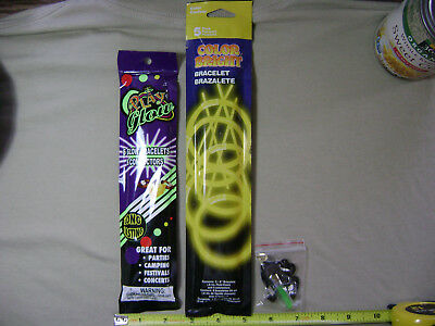 2 Packs of Glow Stick Bracelets and 1 Glow Stick Necklace (NEW) Party Favors - Glow Stick Packs