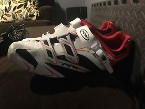 North wave cycling shoes with shimano cleats.  Size 13