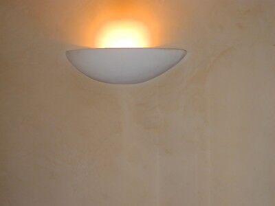 Wandleuchte Wandlampe Gipswandleuchte Handarbeit 49cm Lampe Beleuchtung bemalbar ()