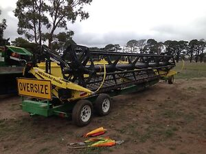 Honey Bee Windrower front and Trailer. Glenthompson Southern Grampians Preview
