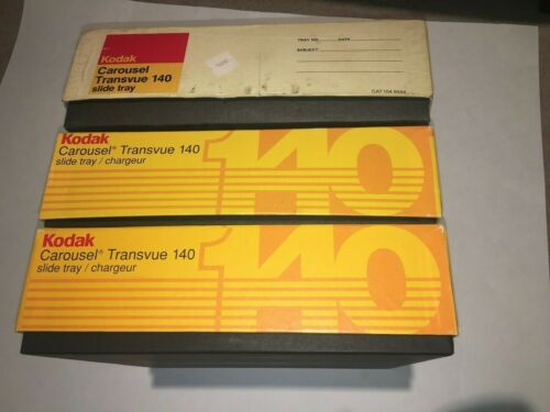 Vintage Kodak Carousel Transvue 140 Slide Tray With Original Box