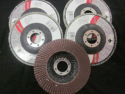 5pc Aluminum Oxide 180 Grit 4-12 Sanding Grinding Wheel Flap Disc 78 Arbor