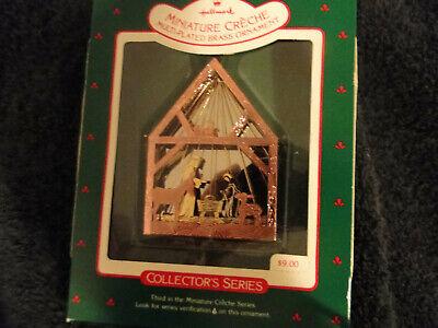 Hallmark Christmas Ornament Miniature Creche 3rd in Series  1987 ()