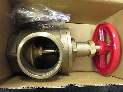 B.h. Fire Hose Angle Valve A97 Size 2-12 Male Nst Female Npt With Covers
