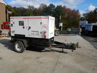 Magnum Mmg75 Diesel Generator Rental Quiet Trailer Pa Kw Wacker Generac