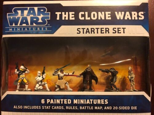 Star Wars Miniatures The Clone Wars Starter Set - New Factory Sealed