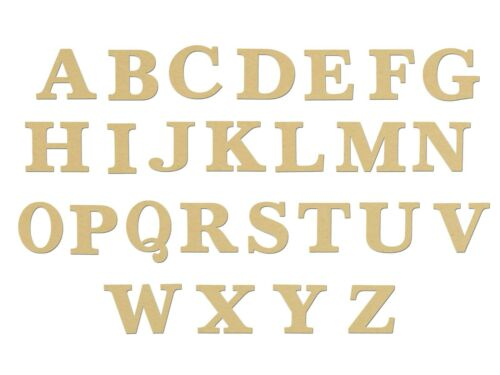 Letters Unfinished Wood MDF Unpainted DIY Crafts Variety of Sizes Times Font