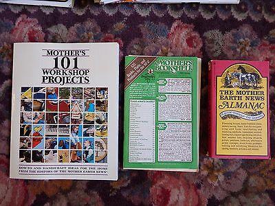 Mother Earth News Misc Pubs Workshop  Almanac  Bookshelf Lot   Vg  Ge Fdgb