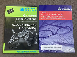 Accounting and finance 3AB exam practice books Bicton Melville Area Preview