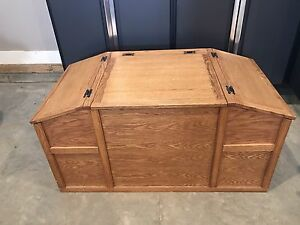 Solid Oak Toy Chest