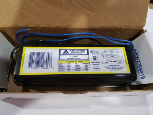 ADVANCE L-220F Fluorescent Ballast, New, Old Stock