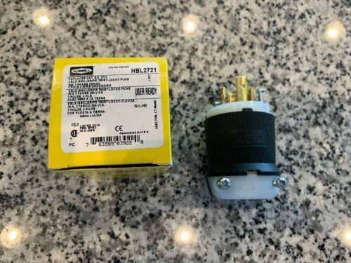 HUBBELL WIRING HBL2721 30A Twist-Lock Plug 3P 4W 250VAC L15-30p-  FREE SHIPPING