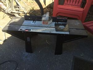 Router table and old black and decker saw
