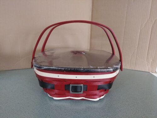 Longaberger Santa Belly Everyday Medium Essentials Basket with protector & lid