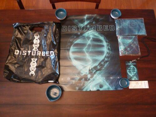 DISTURBED Band Evolution Promo Poster Flag Concert Stub VIP Badge Event Only Bag