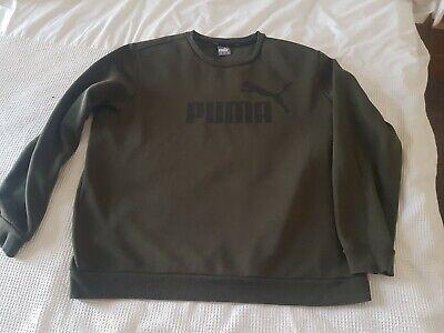 """mens puma jumper XXL khaki green 27"""" PTP"""