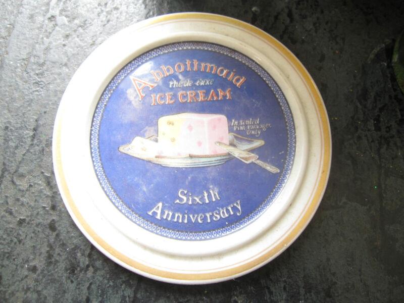 antique Lamberton China plate advertising Abbottmaid Ice Cream