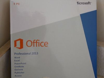 Microsoft Office Professional 2013 Full Windows Word Excel Access 1Pc New Box