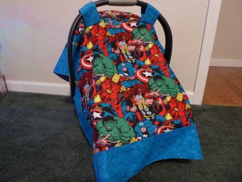 **MARVEL COMICS**  Handmade Baby infant Car Seat Canopy cover