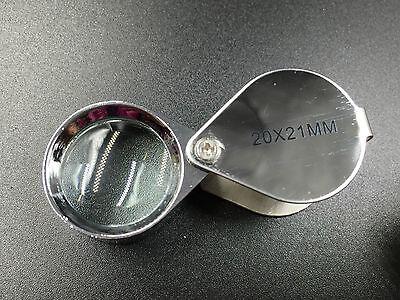 Juwelier Lupe 40 Fach 20 x 21mm Uhr Schmuck Vergrösserungslupe Lupen Münzen Gold