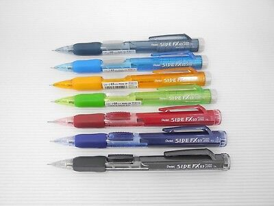 7 Colors Set Pentel Side Fx Pd255 0.5mm Automatic Pencil Made In Japan