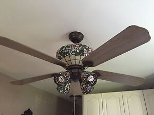 Ceiling fan - stained glass