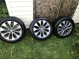 3 rims on tires, one rim without $450 OBO