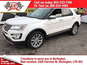 2017 Ford Explorer Limited, Navigation, Panoramic Sunroof, 4x4.