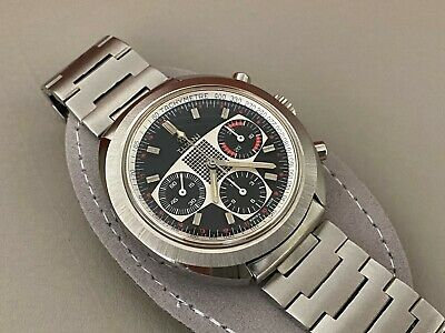 *Exclusive* 1970s Titoni Race King Valjoux 72 Chronograph Racing Dial Watch NOS